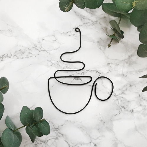 Wire Coffee Tea Cup Sign
