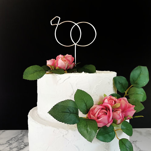 Wedding Rings Cake Topper