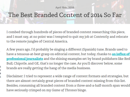 Awesome branded content ideas