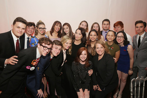 Amy Poehler, Meredith Walker, and the March for Our Lives students from Parkland, Florida