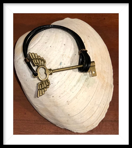 Key Faux leather Bracelet