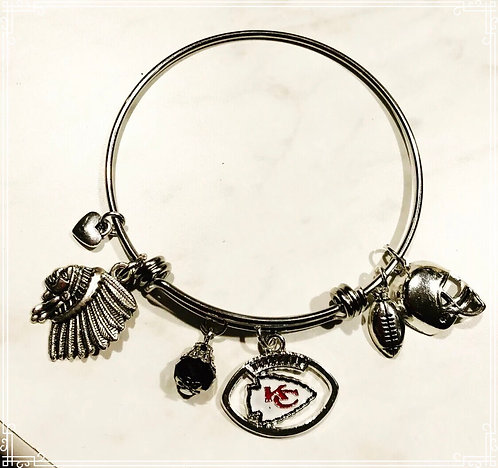 Kansas City Chiefs Bangle Bracelet