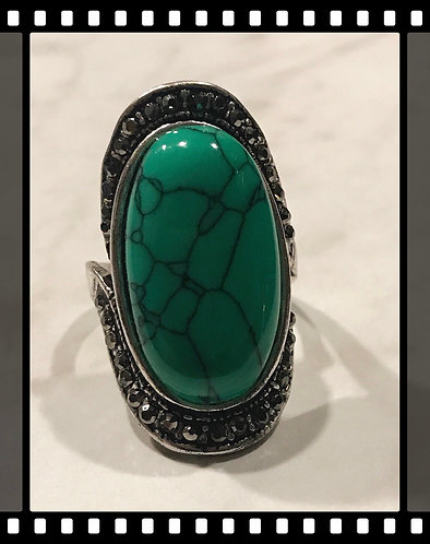 Big Green Turquoise Ring