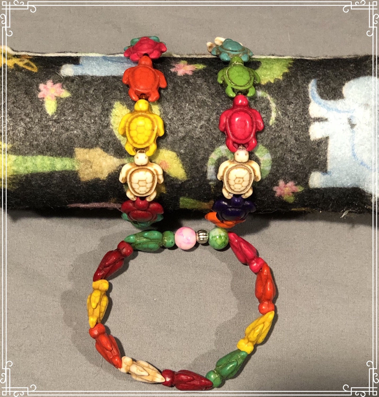 Multicolor Turtle Bracelets
