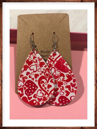 Valentine Faux Leather earrings