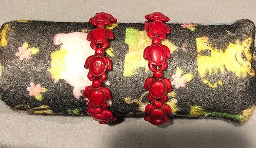 Red Turtle Bracelets