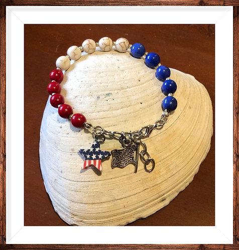 I Love the USA Bracelet