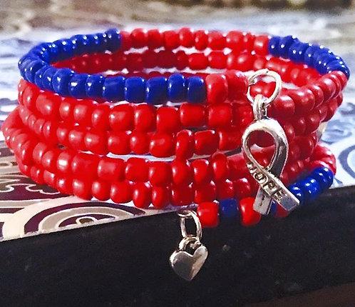 Heart Defect Awareness Wrap Bracelet