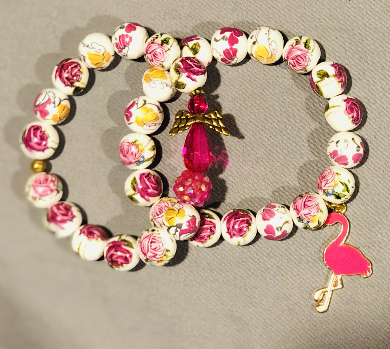 Thumbnail: Flamingo and Angel Bracelets