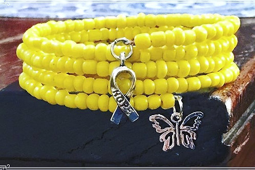 Spina Bifida Awareness Wrap Bracelet
