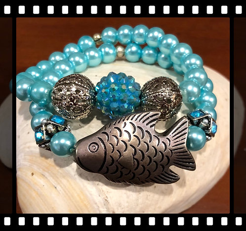 Fish Bling   Two Bracelets