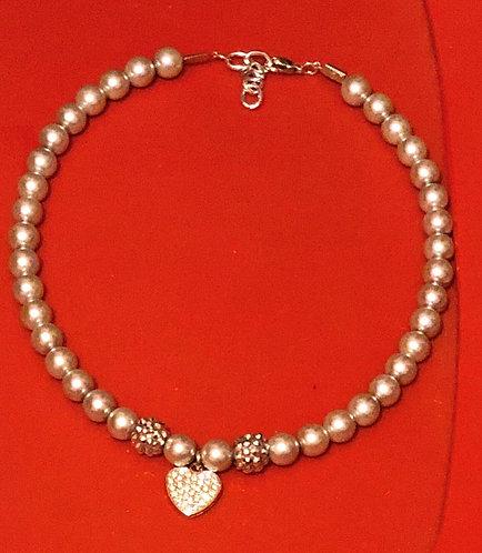 Grey Pearl Doogie Necklace