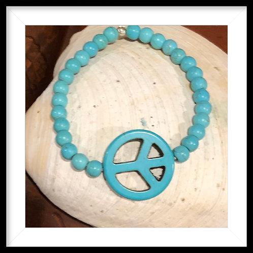 Peace Turquoise Bracelet