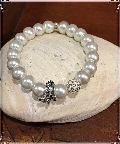 Pearl Cowboy Boot Charm Bracelet