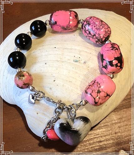 Gorgeous Heart Beaded Bracelet