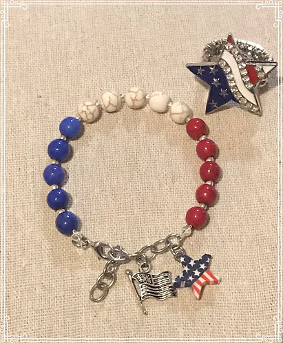 USA Bracelet and USA snap ring Combo