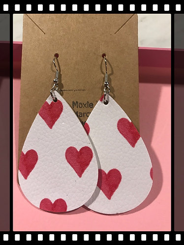 Valentine Faux Leather earrings