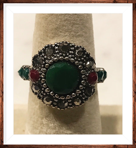 Great Ring with Colorful  Stones