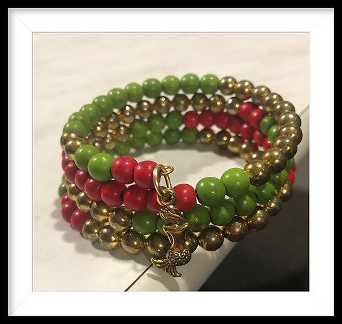 Gold tone Wrap Bracelet