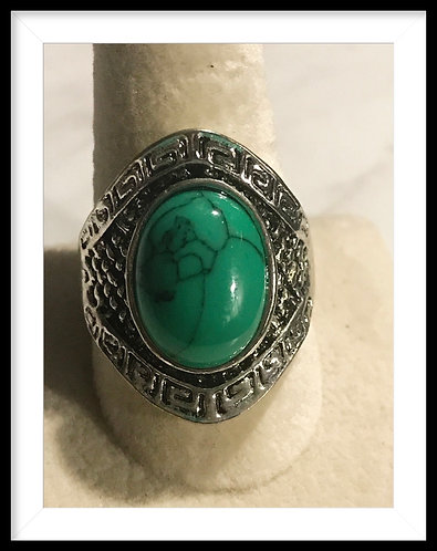 Large Green Turquoise Ring