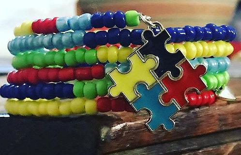 Autism Awareness Wrap Bracelet
