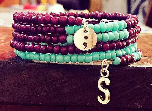 Suicide Awareness Wrap bracelet