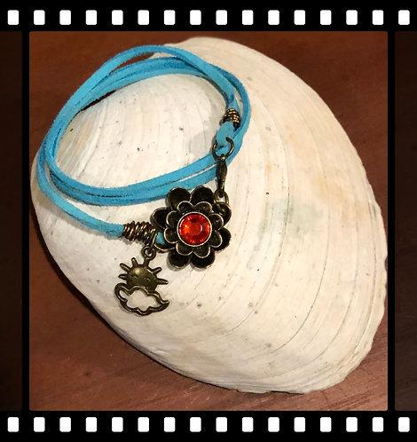Swede leather wrap bracelet