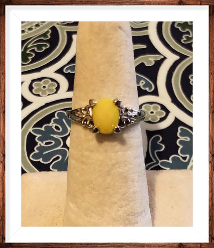 Yellow Stainless Steel Ring