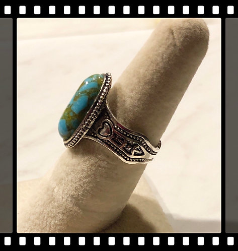 Turquoise Ring....hearts