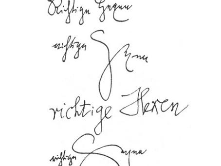 Caligramas realizados por Walter Benjamin bajo el efecto de la mezcalina.
