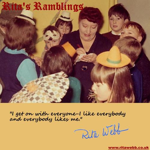 Rita Webb from The Arthur Haynes Show signs autographs