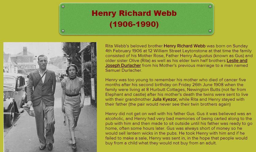 Rita Webb & Henry Webb