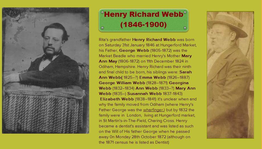 Rita Webb & Henry Richard Webb