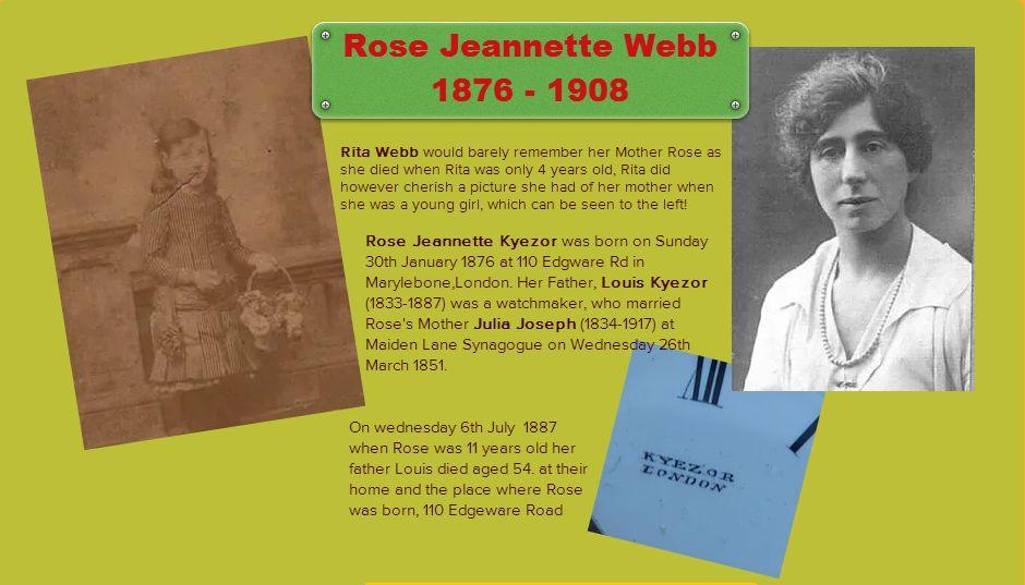 Rita Webb & Rose Jeannette Kyezor Durlacher Webb