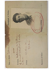 Zalman Palestine Travel Passport