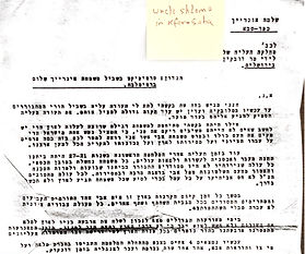 1939 Shlomo Unreich Letter