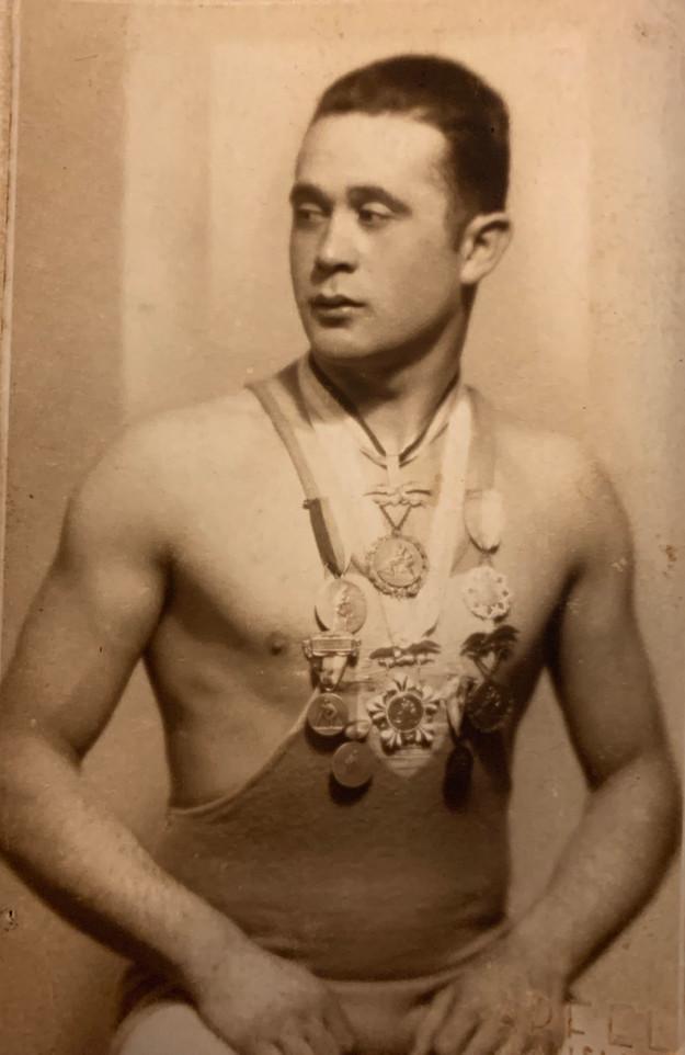 Wrestler from ŠK Makkabea Bratislava Sports Club