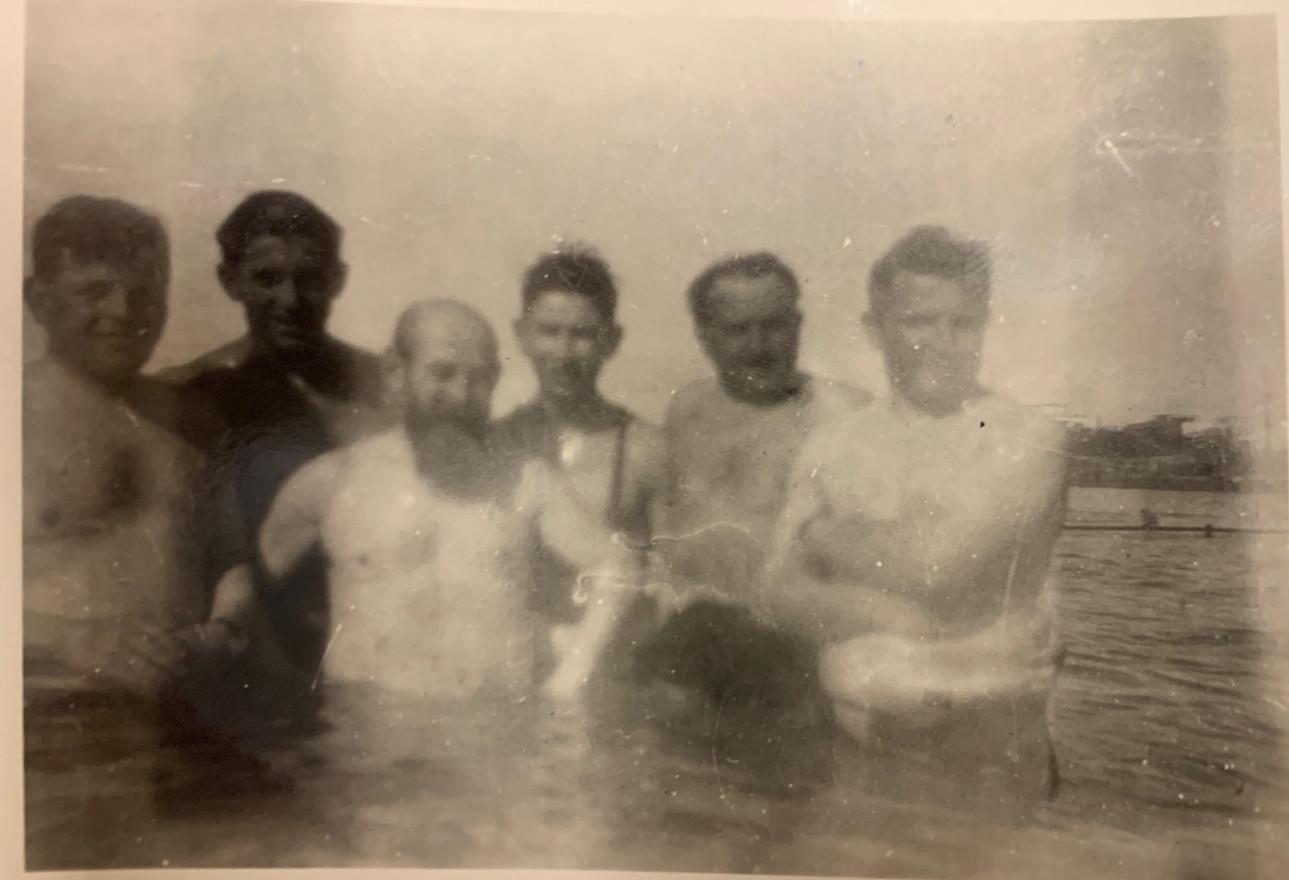 Alex Enright in Israel in 1936