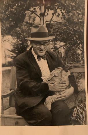 David Unreich with Lion Cub