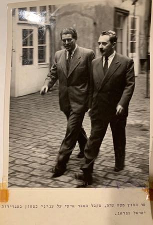 Zalman and Moshe Sharett