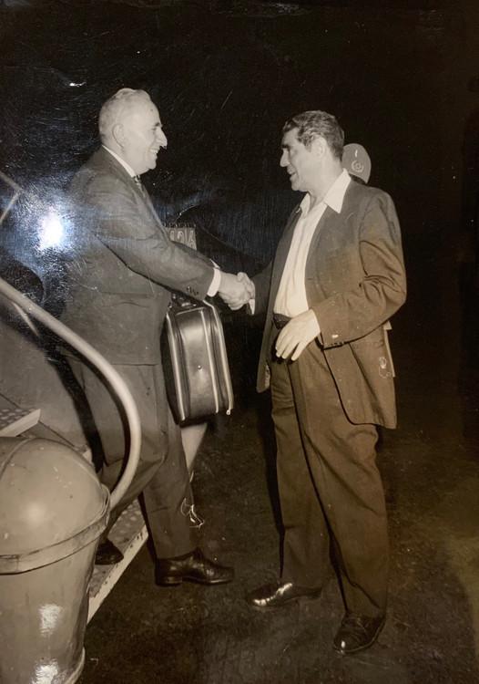 Zalman Greeting Yeruham Meshel Lod Airport