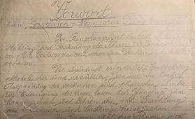 Zalman's handwritten notes about wrestling.