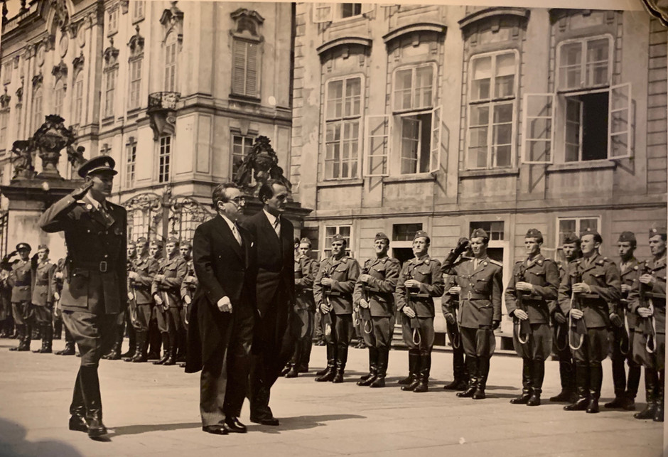 Aryeh Leon Kubovy at Prague Castle
