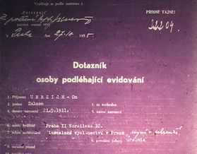 Zalman Dossier from Czech Security Services Archive.
