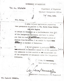 There months later, the British Government of Palestine response to Hashko's letter on June 25, 1939.  These letters are heart-breaking. The heartless and unsympathetic response from the British official is really nauseating.  It must have been so awful for the brothers to feel so powerless.