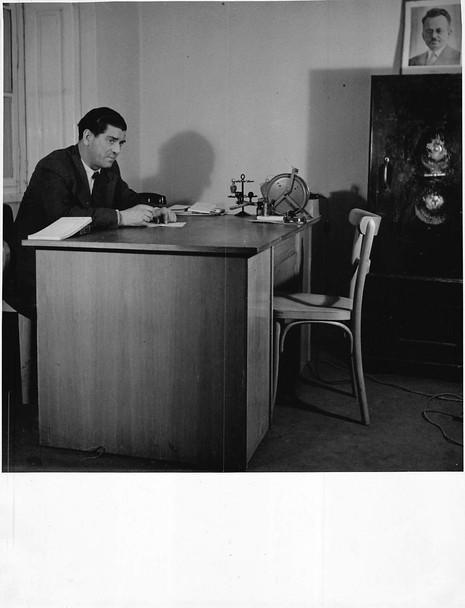 Zalman in his Office at Embassy in Prague