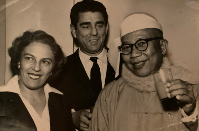 Zalman & Gerty Visit with The Prime Minister of Burma Israel-Circa 1955