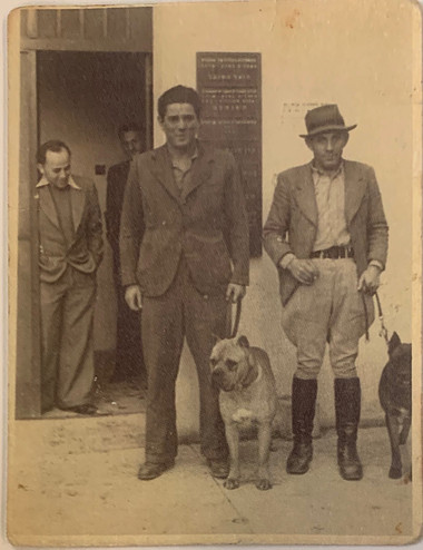 Zalman with Security Dog