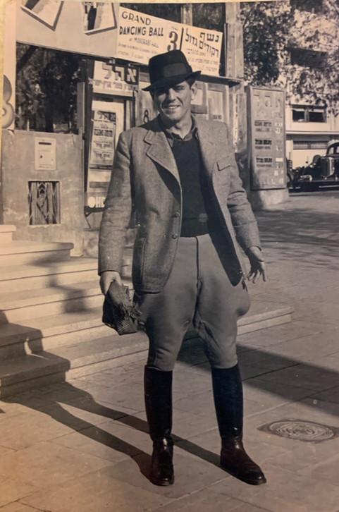 Zalman Unriech Dressed in Uniform