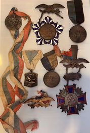 Photo of Zalman's Medals.
